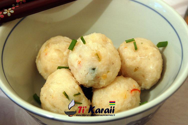 Recette de cuisine mauricienne boulette de poisson chinois - Cuisine mauricienne chinoise ...